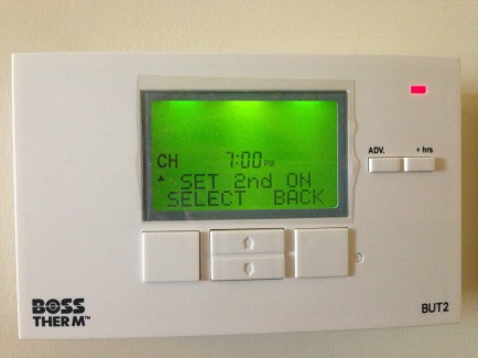 Evaluation of opposing controls for heating: digital